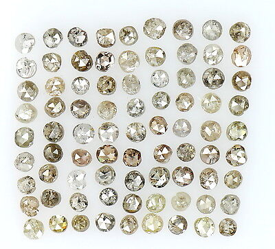 1.00 Cts Lot Natural Loose Diamond Brown Fancy Mix Color Round Shape L16