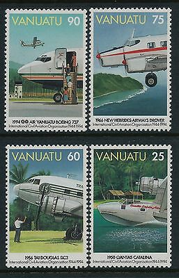 1994 Vanuatu Civil Aviation Organisation Set Of 4 Fine Mint Mnh/muh