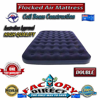 Top Quality Heavy Duty Double Flocked Inflatable Air Bed Mattress Camping Home