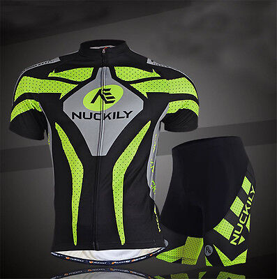 Cycling Jersey Set Bike Bicycle Short Sleeve Clothing Suit Men's Jersey & Shorts