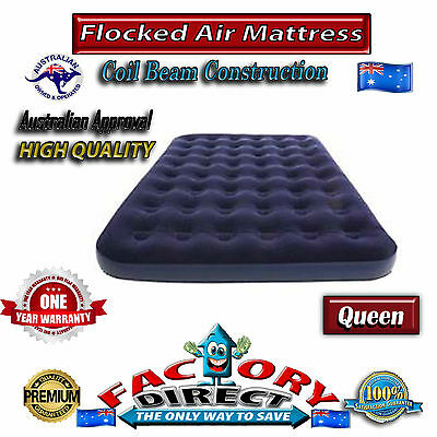 Top Quality Heavy Duty Queen Size Flocked Inflatable Air Bed Mattress Camping