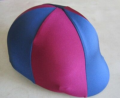 Horse Helmet Cover ALL AUSTRALIAN MADE Navy & Burgundy Any size you need
