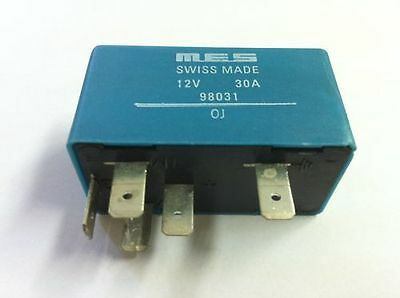 Central Locking Relay 12V 30A MES Swiss Made Brand New