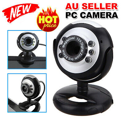 6 LED Camera+Mic 16 megapixel MP USB Web Cam Webcam For Laptop Mac Skype