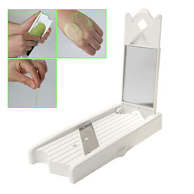 CY 63g White Portable Food Beauty Cucumber Steel Slicer Peeler with a Mirror