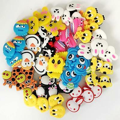 Free Shipping 50pcs Cute Animals Shoe Charms Fit Croc/Jibbitz and Bracelets