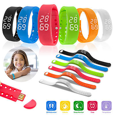 3D Pedometer Smart Watch Bracelet Walking Sport Fitness Calorie Counter Tracker