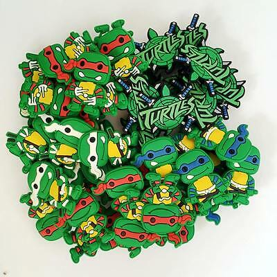 50pcs/Lot Cute TMNT Ninja Turtles PVC Shoe Charms Fit Croc/Jibbitz/Wristbands