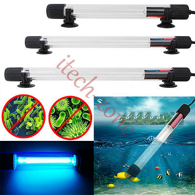 UV Sterilizer Lamp Light Ultraviolet Filter Waterproof Cleaner Kit For Fish Tank