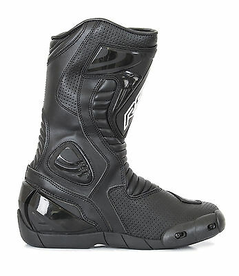 RST R-16 Black Boots 1063 Size EU 45 (UK 10.5)    **PRICE £99.99**