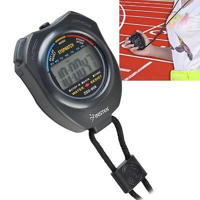 Electronic LCD Timer Digital Sport StopUhr Date Time Alarm Counter Chronograph
