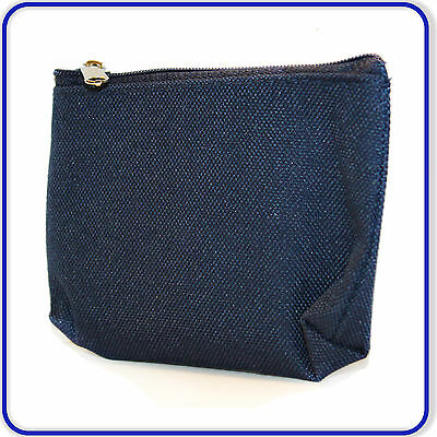 Fashionable Boys Girls School Gift Coin Purse Good Qualty Navy Blue with Zip