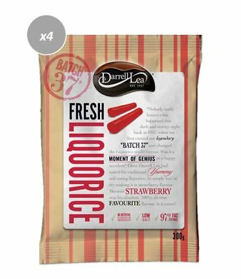 907718 4 X DARRELL LEA FRESH YUMMY AUSTRALIAN BATCH 37 STRAWBERRY LIQUORICE 300g