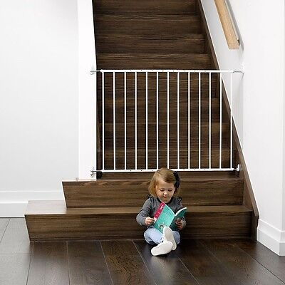 NEW Childcare Baby Child Safety Gate Pet Barrier Fastway White #`089345-003