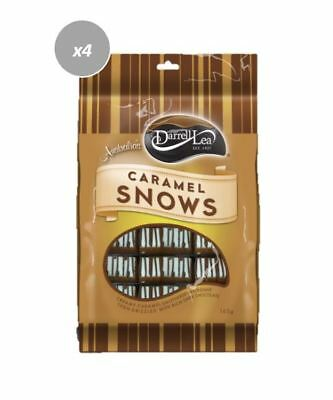 901910 4 x 165g BAGS OF DARRELL LEA DARK CHOCOLATE CARAMEL SNOW FUDGE