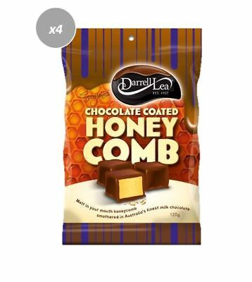 901905 4 x 120g BAGS OF DARRELL LEA MILK CHOCOLATE COATED HONEYCOMB