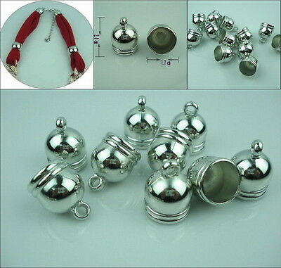 20 PCS/Lot silver Acrylic Jewelry Caps Ends Necklace Scarf accessories