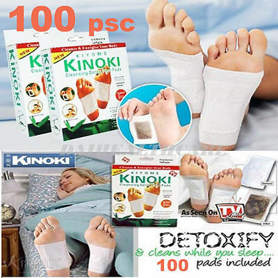 100 Cleansing Detox Foot Pads Patches KINOKI - FREE SHIPPING - 2 Months Supply