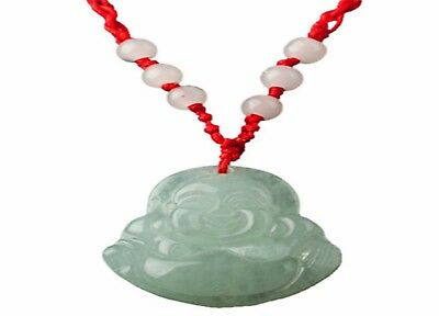 Red String Green Faux Jade Buddha Pendant Jewelry Necklace 1141nigel UK SELLER
