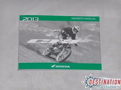 New Old Stock Honda OEM Owners Manual 2013 CRF230F