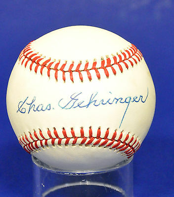 Charles Gehringer   Autographed   Baseball