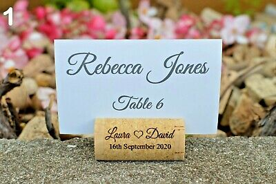 Wine Corks Personalized Place Card Holders for wedding or special occasion