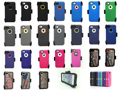 For iPhone 5C Defender Cover Case w/Screen Protector & Holster Fits Otterbox