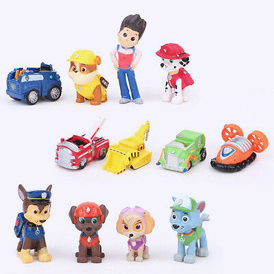 Hot 12pcs Cute Paw Patrol Cake Toppers Action Figures Doll Kids Children Toy Set