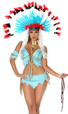 Forplay Native American Indian Chief Feather Headress Costume Accessory 993600