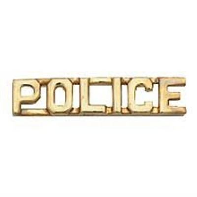 'police'  Or 'sheriff' Insignia, Gold Plated, Sold In Pairs