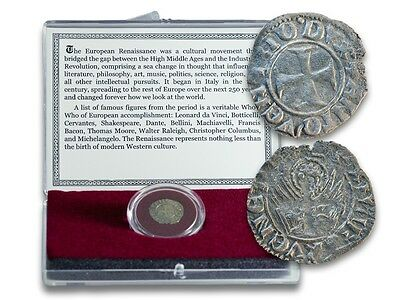 Renaissance Coin of Venice 14th or 15th Century central cross and winged lion