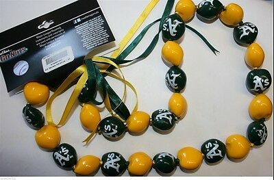 Oakland Athletic A's Go Kukui Nuts beads Necklace baseball Original MLB Licensed