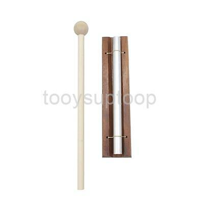 Wooden Base Solo Chime for Sound Therapy Relaxation Silver Rod Mallet New