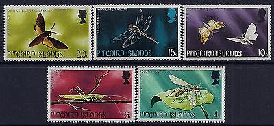 1975 Pitcairn Islands Insects Set Of 5 Fine Mint Mnh/muh
