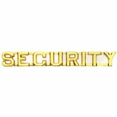 Security Emblem, Metal, 1/4""