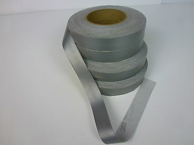 3M™  8910 SILVER REFLECTIVE FABRIC SEW ON TAPE 25mm x 5m