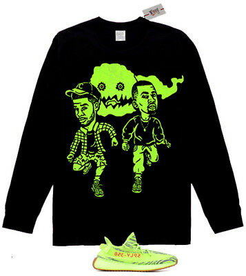 Fnly94 Long Sleeve Kids See Ghosts  shirt Yeezy Boost 350 V2 Semi Frozen Yellow