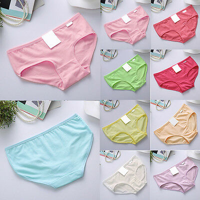 Sexy Lady Womens Cotton Underwear Briefs Panties Knickers Lingerie Candy Color