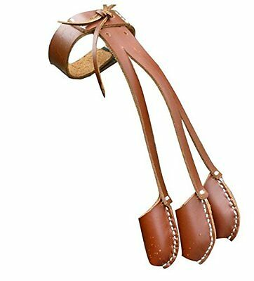 Archery Handmade Brown Leather 3 Finger Glove For Longbow Finger Protective Gear