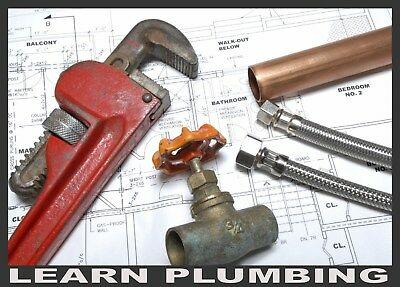 LEARN PROFESSIONAL PLUMBING - Large Plumber Book Collection Scans, Disc/Download