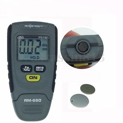 SR2120B 0-1.25mm Paint Coating Thickness Gauge Meter Tester Base Iron Aluminum