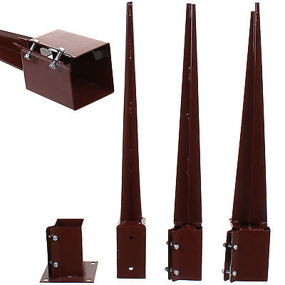 "Fence Post Spike Support Holder 3"" 4"" Bolt Grip Like Metpost Anchor 75Mm/100Mm"