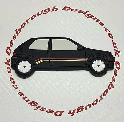 Peugeot 106 Rallye fridge magnets  Black Phase 1