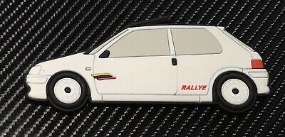 Peugeot 106 Rallye fridge magnets , White Phase 2
