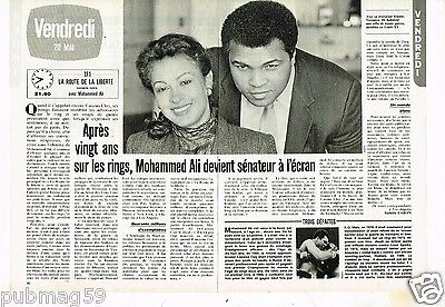 Coupure de presse Clipping 1983 (2 pages) Mohammed Ali