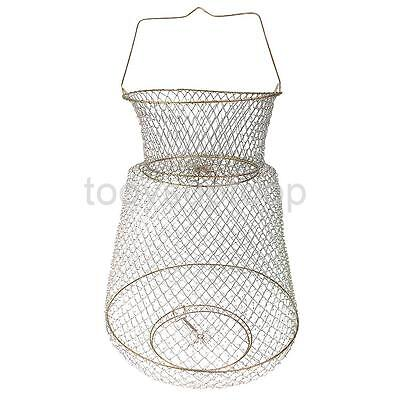 Foldable Metal Wire Spring Fish Lobster Mesh Fishing Net Crab Fishing Cage