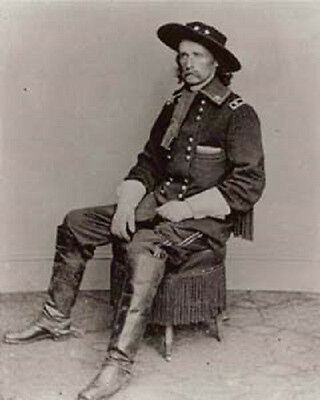 8X10 Inch Photograph General George Armstrong Custer  New