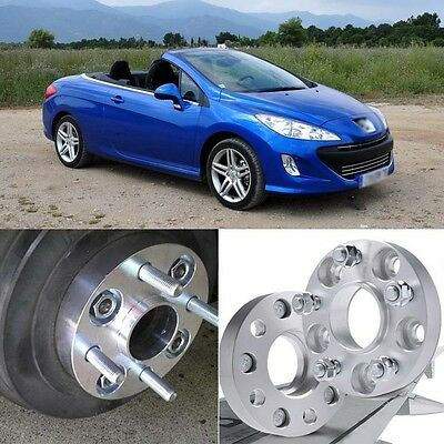 4pcs 4X108 65.1CB 25mm Thick Hubcenteric Wheel Spacer Adapters For Peugeot