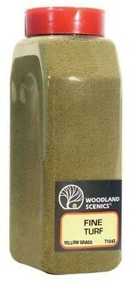 Woodland Scenics T1343 Turf Fine Yellow Grass 32 oz Shaker - NIB