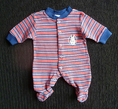 Baby clothes BOY premature/tiny<7.5lbs/3.4kg Baby Baby bright red/navy babygrow